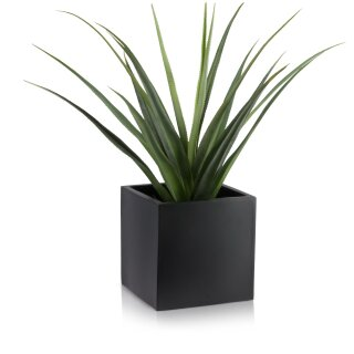 Planter CUBO 30 Fibreglass black matt