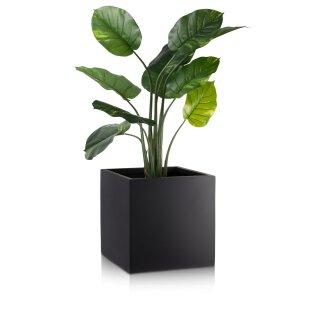 Planter CUBO 40 Fibreglass black matt