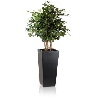 Planter LAVIA 70 Fibreglass black matt
