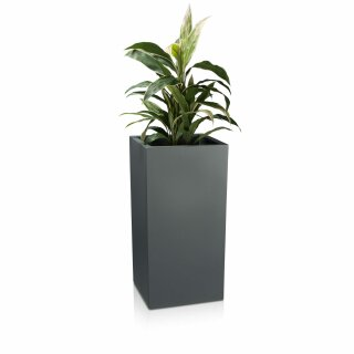 Plant Pot TORRE 80 Plastic basalt grey matt