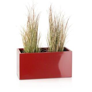 Plant Trough VISIO 30 Fibreglass red glossy
