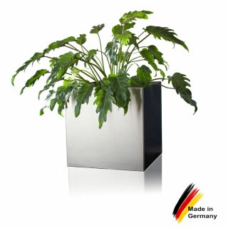Plant Pot CUBO 30 Stainless Steel brushed