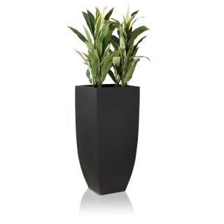 Planter TARRO ALTO 90 Fibreglass black matt
