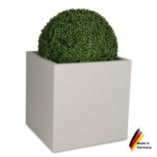 Planter CUBO 60 plastic terrazzo