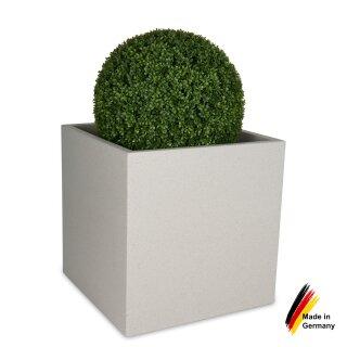 Planter CUBO 50 plastic terrazzo matt