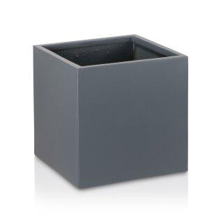 Planter CUBO 40 Fibreglass grey matt