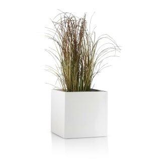 Planter CUBO 30 Fibreglass white matt