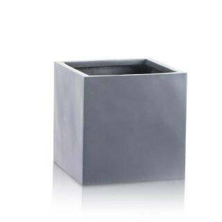 Flower Pot CUBO 30 Fibreglass grey matt
