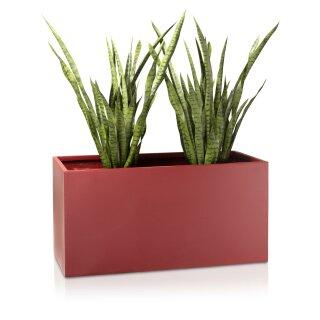 Plant Trough VISIO 50 Fibreglass red matt