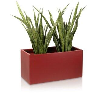 Plant Trough VISIO 40 Fibreglass red matt