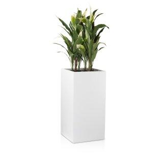 Planter TORRE 80 Fibreglass white matt