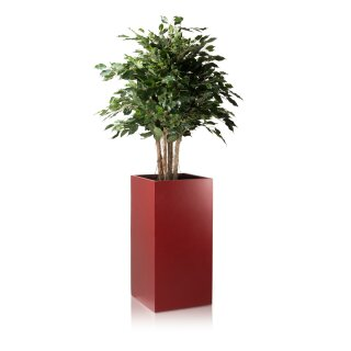Planter TORRE 80 Fibreglass red matt