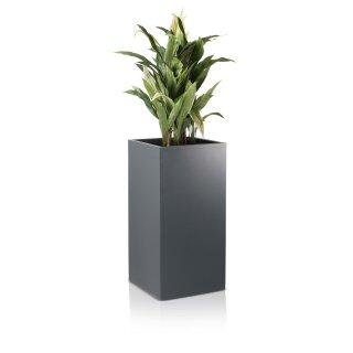 Planter TORRE 80 Fibreglass grey matt