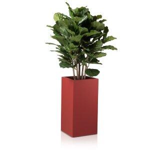 Flower Pot TORRE 60 Fibreglass red matt