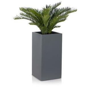 Planter TORRE 60 Fiberglass grey matt