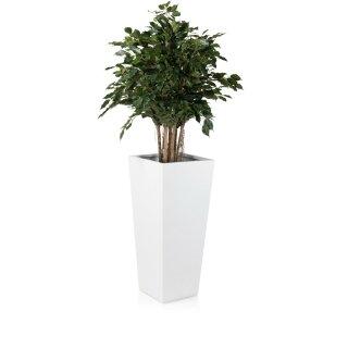 Planter LAVIA 90 Fibreglass white matt