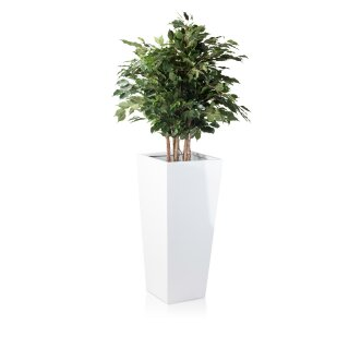 Planter LAVIA 90 Fibreglass white glossy