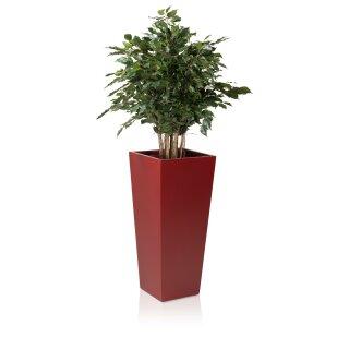 Planter LAVIA 90 Fibreglass red matt