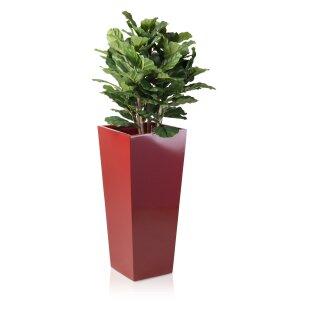 Planter LAVIA 90 Fibreglass red glossy