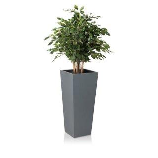 Planter LAVIA 90 Fibreglass grey matt