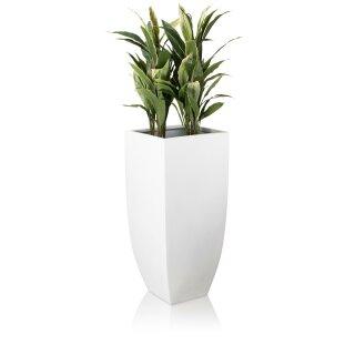 Planter TARRO ALTO 90 Fibreglass white matt