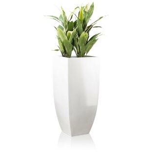 Planter TARRO ALTO 90 Fibreglass white glossy