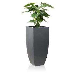 Planter TARRO ALTO 90 Fibreglass grey matt