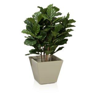 Plastic Planter VILLA 33 grey matt