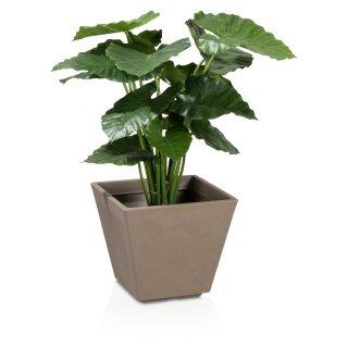 Plastic Planter VILLA 33 cappuccino matt