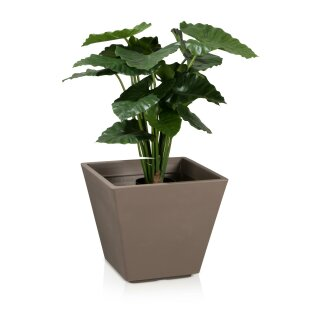 Plastic Planter VILLA 42 cappuccino matt