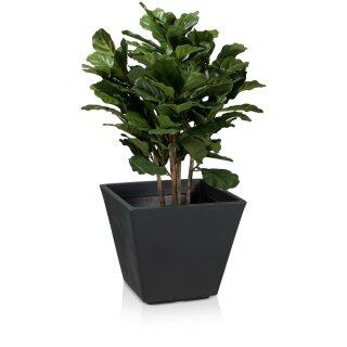 Plastic Planter VILLA 42 charcoal grey matt