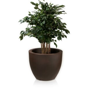 Flower Pot TARRO 50 Plastic bronze matt