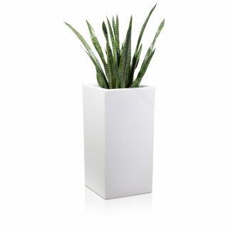 Plant Pot TORRE 80 Plastic white matt