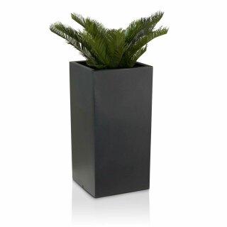 Plant Pot TORRE 80 Plastic charcoal grey matt