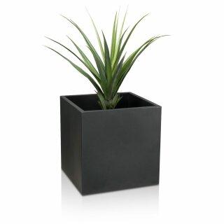 Plastic Planter CUBO 60 charcoal grey matt