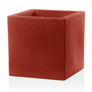 Plant Pot CUBO 30 Plastic red matt