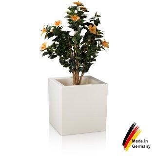 Flower Pot CUBO 50 Plastic white matt