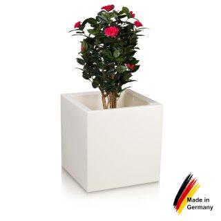 Plant Pot CUBO 60 Plastic white matt
