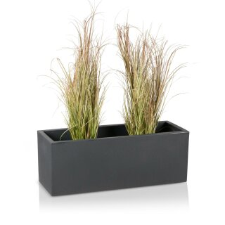 Plastic Planter MURO 30 Plant Trough charcoal grey matt