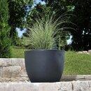 Plastic Planter TARRO 50 charcoal grey matt
