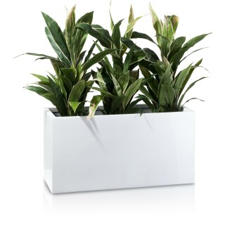 Plant Trough VISIO 40 Fibreglass white glossy