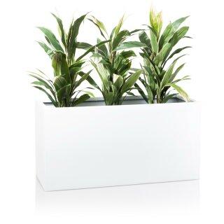 Plant Trough VISIO 50 Fibreglass white glossy