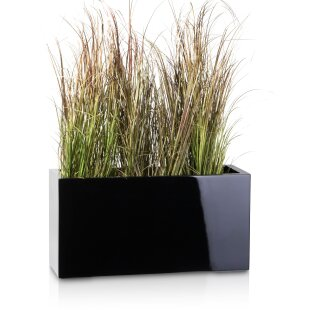 Plant Trough VISIO 30 Fibreglass black glossy