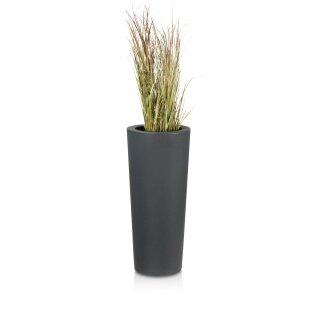 Plastic Planter CONO 68 charcoal grey matt
