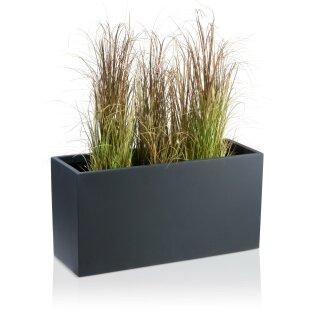Plant Trough VISIO 40 Fibreglass charcoal-grey matt
