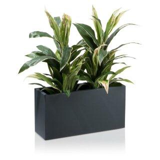 Plant Trough VISIO 30 Fibreglass charcoal-grey matt