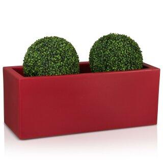 Plastic Planter MURO 40 Plant Trough red matt