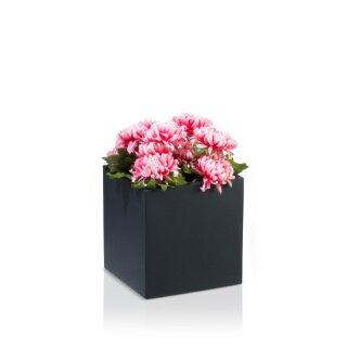 Flower Pot CUBO 30 Fibreglass charcoal grey matt