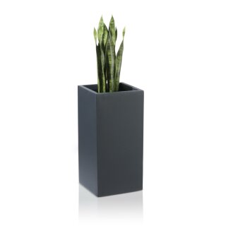 Flower Pot TORRE 60 Fibreglass charcoal-grey matt