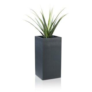 Flower Pot TORRE 80 Fibreglass charcoal-grey matt